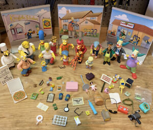Playmates Simpsons Figure And Accessory Lot - 50+ Pieces