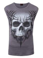 Ärmellose Herren-T-Shirts mit Totenkopf in Größe XL