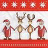4 Motivservietten Servietten Napkins Tovaglioli Weihnachten Freundschaft (947)