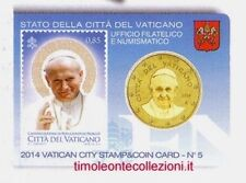 Vatican 50 cent 2014  stamp&coincard N° 5 Jean-Paul II
