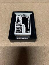 More details for zippo - jack daniels bottle - zippo lighter white matte rare