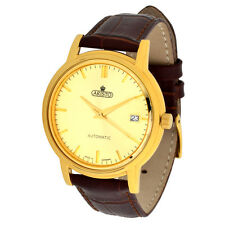 ARISTO ladies automatic wristwatch Model 1H31 brown leather strap swiss movment