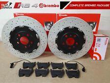 FOR AUDI RS4 B7 FRONT BREMBO 2 PIECE BRAKE DISCS BREMBO BRAKE PADS SENSORS 365mm