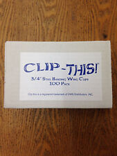 "Clip This 3/4"" Steel Strap Wing Clips packed 100 clips per box"