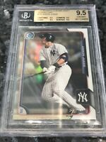 Aaron Judge BGS GEM MINT 9.5 2015 Bowman CHROME Beckett 150 REFRACTOR #1