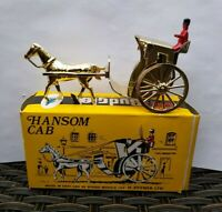 BUDGIE MODELS #100 GOLD PLATED HORSE-DRAWN HANSOM CAB FOR H.SEENER LTD BOXED