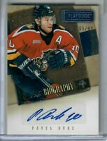 Pavel Bure AUTO 65 OF 99 Florida Panthers Hockey Panini Playbook Biography  !!!