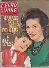 ECHO DE LA MODE N°21 du 27 mai 1962 mode vintage