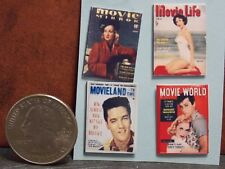 Dollhouse Miniature Vintage Magazines Books Movie 1:12 Scale H145 Dollys Gallery