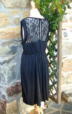 superbe robe féminine noire haut dentelle grande taille 48/50 tendance!