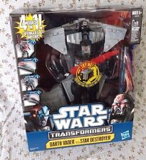 Star Wars TransFormers 4in1 Darth Vader Destroyer Anakin Jedi Cruiser G1 MISB