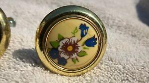 Dresser or Drawer pulls...Floral Pattern...Door pulls..Fits 3/4 in Depth