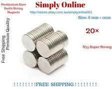 Disc Rare Earth Neodymium N35 Super Strong Magnets Craft Model 8mm x 1mm