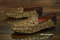Coach Signature Haley Loafer Khaki FG3109 Women's Shoes - Multi Size