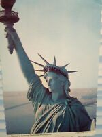 VINTAGE POST CARD STATUE OF LIBERTY NATIONAL MOUNUMENT NEW YORK