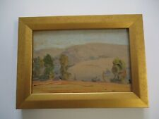 ANTIQUE EARLY AMERICAN IMPRESSIONIST OIL PAINTING SMALL GEM MASTERFUL LANDSCAPE