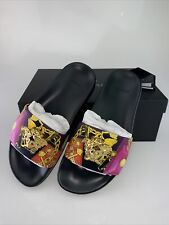 NEW In Box Versace Medusa Leather Flip Flops Pool Slide Sandals Size EU 37