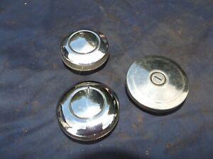 Vintage Wilmot Breeden Chrome Locking Petrol Gas Caps for Classic Cars