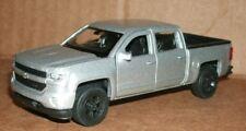 1/48 Scale 2017 Chevy Silverado Z71 Pickup Truck Diecast Model Welly 43750 Grey