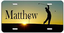 PERSONALIZED CUSTOM GOLF SUNSET VANITY LICENSE PLATE AUTO TAG