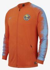 NikeMen's Club America Soccer Jacket Orange/University Blue/University Size L