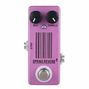 Guitar Reverb Effect Pedal Spring Reverb True Bypass for Electric Guitar Bass