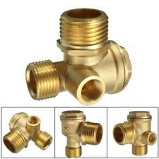 3 Port Brass Central Pneumatic 40400 Air Compressor Check Valve Thread 90deg
