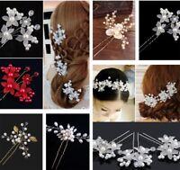 2 pcs/lot Hair Pins Wedding For Pearl White Bride Hair Ornaments Hair Clips