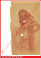 Dessin 8 ADRIANO DE VICENTIIS Crayonné Signé Numéroté 100ex Erotique 40 x 30 cm