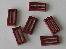 6 x LEGO DkRed grille ref 2412b / Set 10019 8019 20007 20009 7673 30051 7679 ...