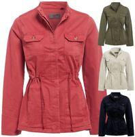 Plus Size 10 - 32 Womens Trench Coat Ladies Utility Jacket Stone Khaki Navy Rose