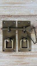 Rectangle Brass Oriental Antique look Pin Lock for cupboard or door - 12cm Mediu