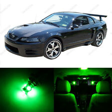 6 x Green LED Interior Light Package For 1994 - 2004 Ford Mustang