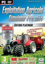40570//EXPLOITATION AGRICOLE SIMULATOR PRO 2014 EDITION PLATINIUM POUR PC NEUF