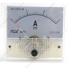 1 × DC 3A Analog Panel AMP Current Meter Ammeter Gauge 85C1 White 0-3A DC