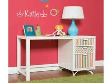 GIRLS NAME & TIARA crown Sticker Decal Room Decor