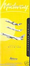 Airline Timetable - Midway - 15/02/00