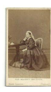Vintage CDV Reine Victoria De Grande-Bretagne Empress Of Inde Avec Elle Teckel
