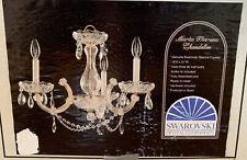 Maria Theresa Chandelier Genuine Spectra Swarovski Crystals Three Light Spain