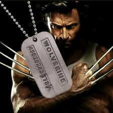 X-Men Wolverine Logan Dog Tag Chain Necklace Pendant Charm Comic Book Movie Gift
