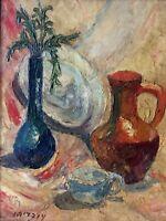 SHMUEL OVADIAHU (1892-1963) , Oil on Board , Still Life, Signed, OBADOWSKY
