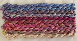 #6 Soft Pink/Blue Color 10  Caron Waterlilies 12 Ply Silk Thread Without Tags