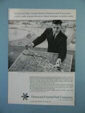 1963 DIAMOND CRYSTAL SALT FEAT. SNOW REMOVAL EXPERT BLAKE JORDAN SALES ART AD