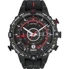 Timex Men's T2N720 Intelligent Quartz Tide Temp Compass Black Strap Watch