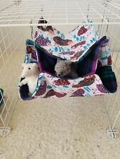Magical hedgehog print rat, bird, ferret or other small animals hammock handmade
