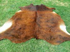 LARGE BRINDLE BROWN Cowhide Rug natural Cowhides Cow Hide Skin 6X6 FEET RRN