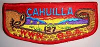 OA CAHUILLA LODGE 127 CALIFORNIA INLAND EMPIRE CA PATCH RATTLESNAKE SERVICE FLAP
