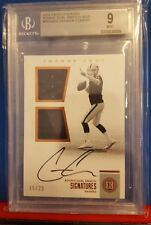 2016 Encased Connor Cook Rookie Auto/Dual Jersey card #d 15/25 Raiders Graded 9M