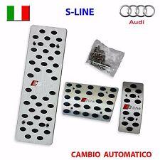 Pedaliera sportiva AUDI A4 A5 A6 A7 Q5 S4 S5 S6 S-LINE pedali auto alluminio AT