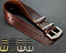 fits Omega,Handmade 18/20/22/24 mm gift Leather Strap, Military Watch band